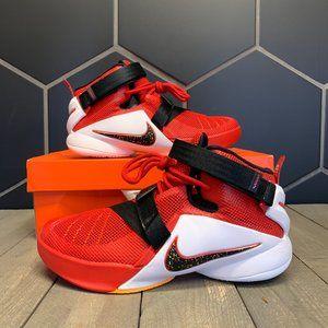 New W/ Damaged Box! Nike Lebron Soldier IX GS Red